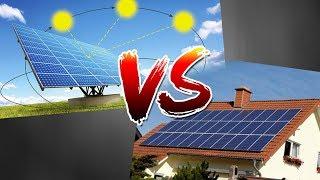 Солнечный Трекер VS Стационарная панель. Сравнение по энергоэффективности