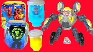 РОБОТЫ ТРАНСФОРМЕРЫ В ЛИЗУНЕ! Ready2Robot | Slime Robot Battles Передвижная Бластер Пушка