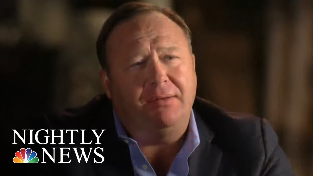 Families Sue Alex Jones For Defamation Over Sandy Hook Conspiracy Claims |  NBC Nightly News