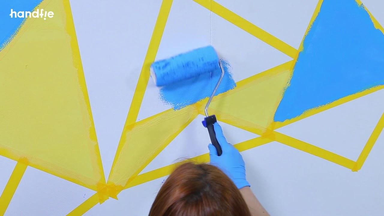 C mo pintar paredes con formas geom tricas soluciones for Formas de pintar paredes interiores