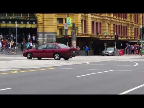 Footage ing Melbourne CBD Car Moments Before Plunging Into Packed Bourke Street