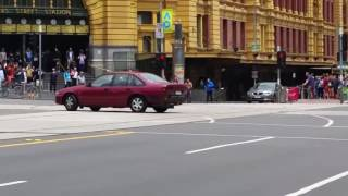 Footage Showing Melbourne CBD Car Moments Before Plunging Into Packed Bourke Street