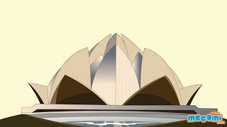 Lotus Temple - Fun Fact Series EP36 | Mocomi Kids