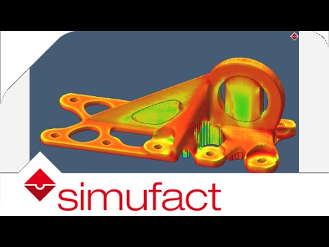 Simulation of effective stress of an additively manufactured aerospace bracket| Simufact