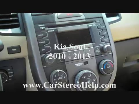How to Kia Soul Car Stereo radio Cd Removal 2010  2013 replace aux jack  YouTube