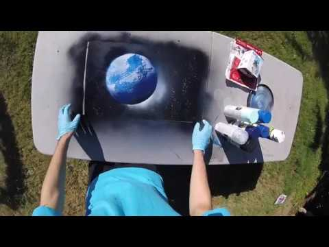 The Lonely Planet ~ Spray Paint Art