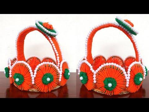 Home Decor DIY - Best out of WASTE Bangles craft | Make easy Basket using old Bangles