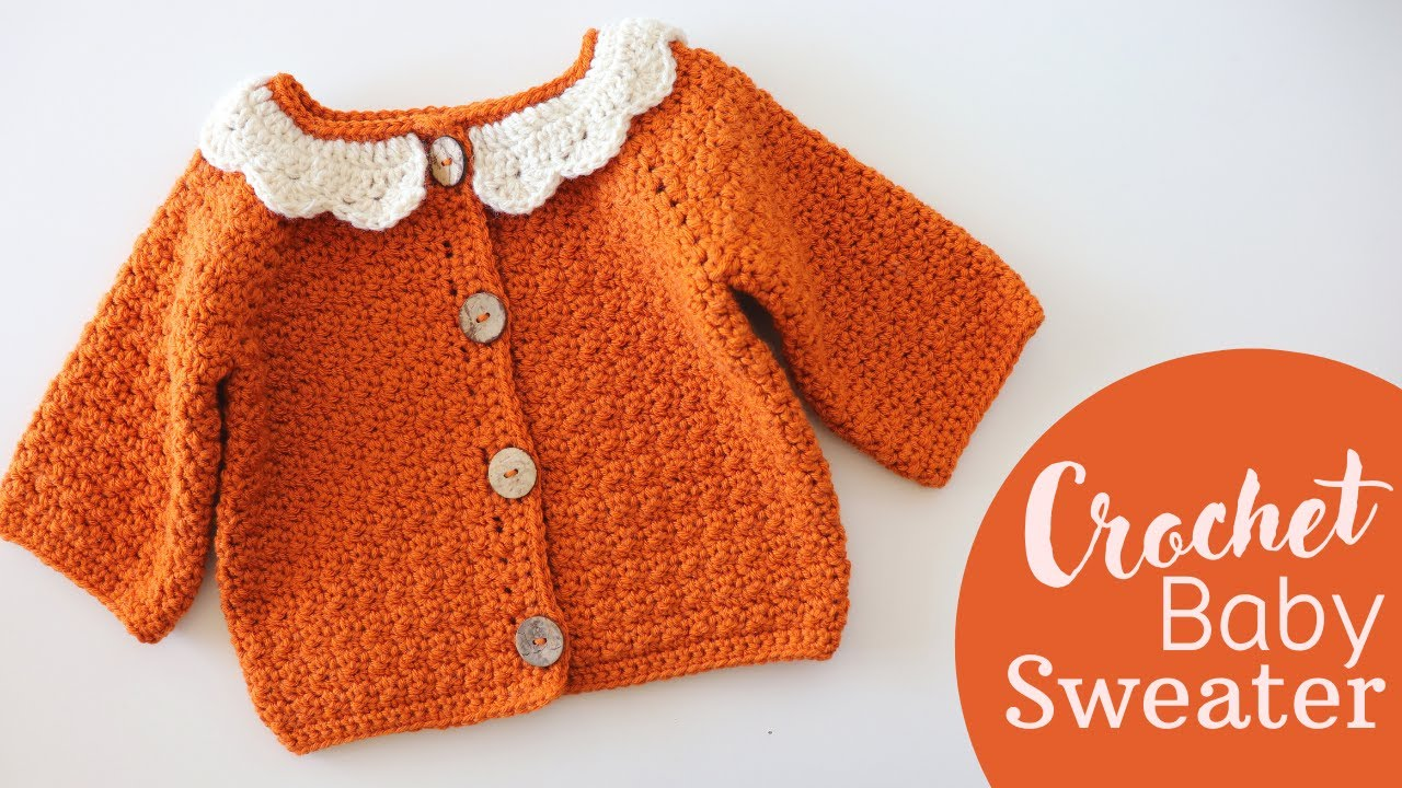 How To Crochet An Easy Baby Cardigan