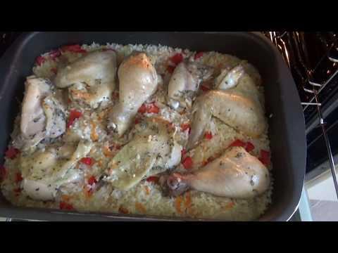 КУРИЦА С РИСОМ в духовке ! Что можно приготовить из курицы