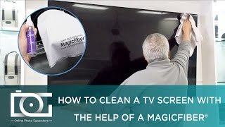 How to clean your Sony, LG, Plasma, LED, LCD Tv Screen Using MagicFiber microfiber XL Size