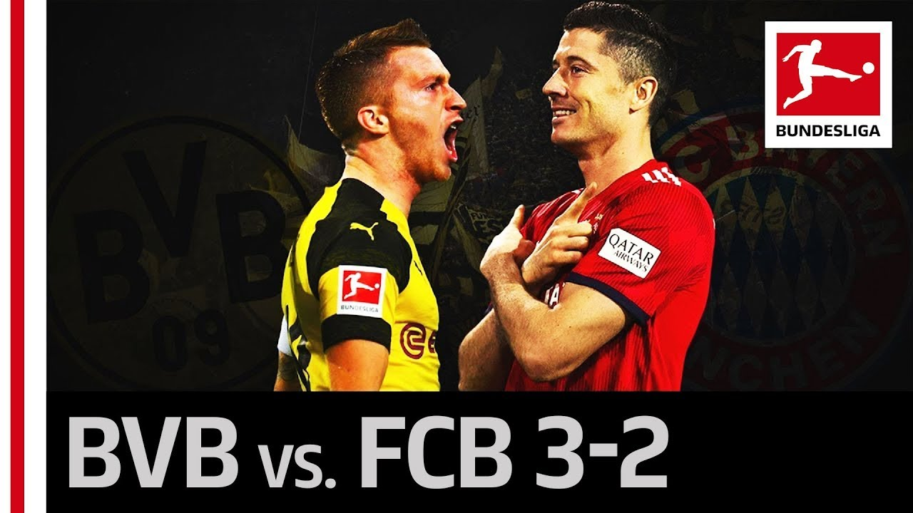 Download Borussia Dortmund vs. FC Bayern München | 3-2 | Highlights | Classy Comeback by Alcacer, Reus & Co