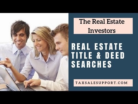 Real Estate Title Searches & Deed Research!