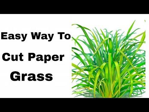 How To Cut Paper Grass easily | Paper Grass |By Ruks Art n Craft
