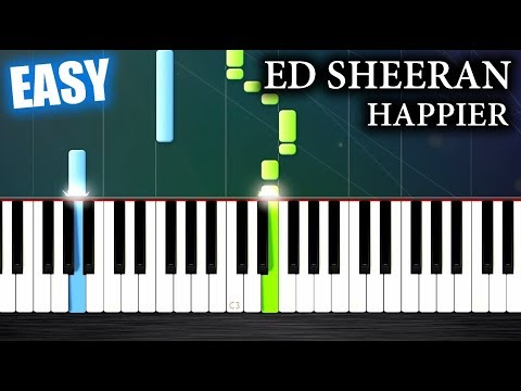 Ed Sheeran - Happier - EASY Piano Tutorial by PlutaX
