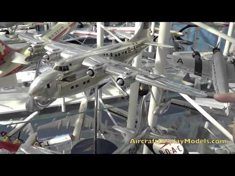 VIdeo 18) Anthony Lawler airline display model collection - BOAC Solent Imperial Argosy
