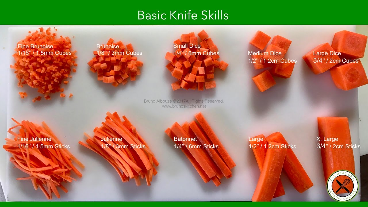 Knife Skills And Cutting Techniques