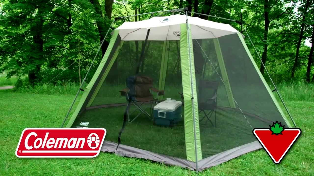 & Coleman Instant Screen House From Canadian Tire - YouTube