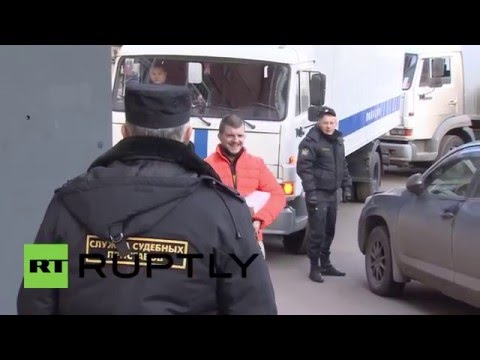 Russia: Tycoon Sergei Polonsky arrives in court for detention length hearing