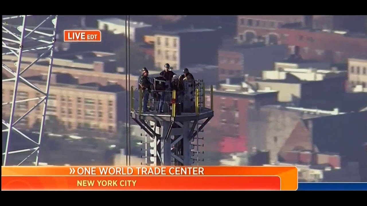 TODAY covers completion of 1 WTC Antenna -  Pt 1 in HD