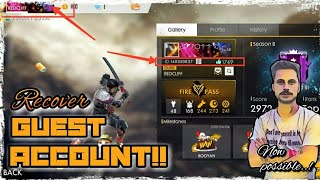 HOW TO GET YOUR LOST GUEST ACCOUNT BACK IN FREEFIRE BG? NOW ITS POSSIBLE, INFO. ONLY AT IGL!!