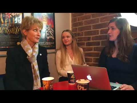 Jenny Seagrove and Clare Lousie Connolly from The Exorcist  at The Theatre Cafe