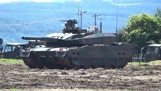 上富良野駐屯地創立記念行事2015年 10式戦車の機動展示と90式戦車との性能比較展示