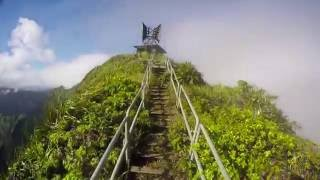 "Illegal Haiku Stairs ""Stairway to Heaven"" - Oahu, Hawaii"