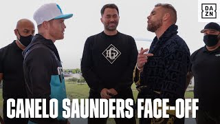 Canelo & Billy Joe Saunders Have HEATED First Face-To-Face