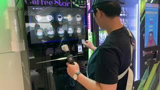 JAMES 말레이시아 쿠알라룸푸르 공항 커피자판기 이용…