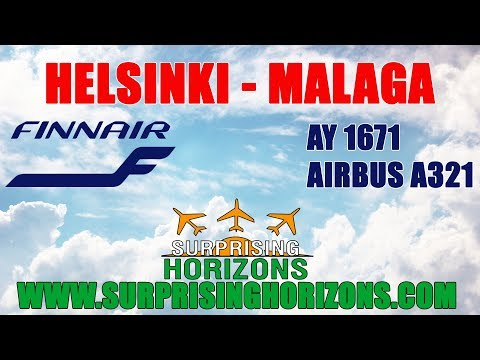 Helsinki - Malaga | Finnair A321 | Take Off And Landing