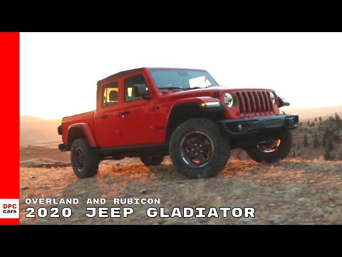 2020 Jeep Gladiator Overland and Rubicon