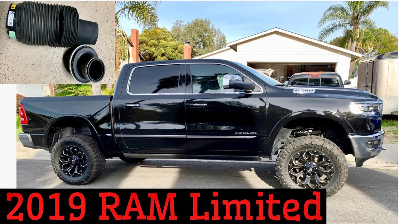 dodge ram  limited rough country  air shock lift kit installation air shock blows