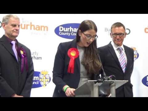 Durham North West - General Election Declaration