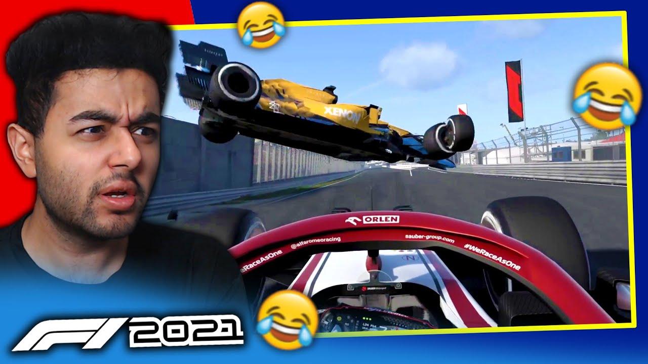 HUGE NEAR MISS AERIAL CRASH & TOP TIER FERRARI PITSTOPS on F1 2021 Game!