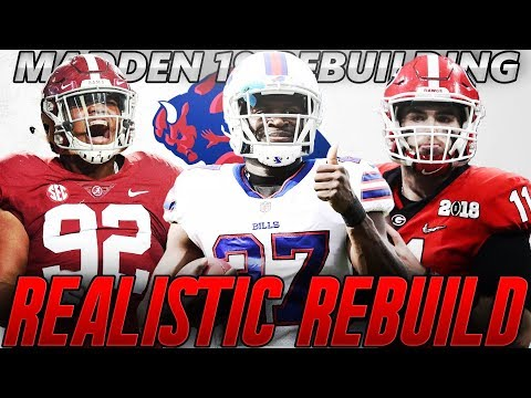 Buffalo Bills Realistic Rebuild | Quinnen Williams on the Best D-Line in NFL! Madden 19 Franchise