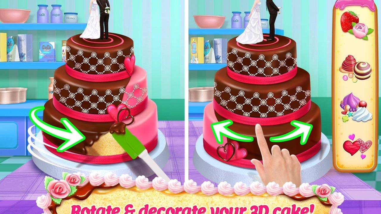 CAKE MAKING GAMES COOKING OF BROWNIES Baking AND Cake PREPARATION
