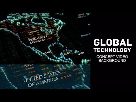 Abstract Digital Global Technology Concept Background HD