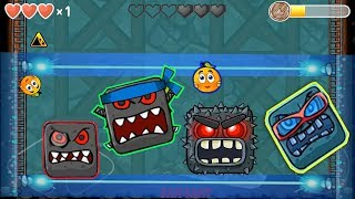 RED BALL 4 : ALL 5 BOSS SHOWDOWN EPIC BATTLES DIFFERENT ARENAS (IOS \ ANDROID)