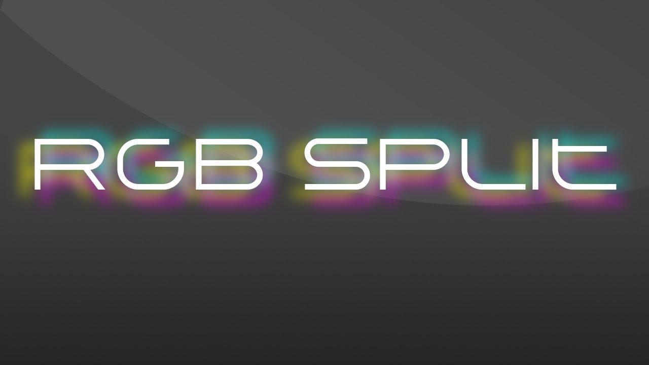 how to add a rgb split effect in ae