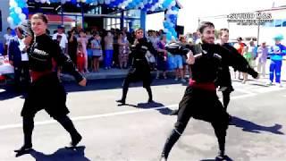 Ансамбль адыгского танца Абреки на открытии магазина Колорит в Кошехабль, Адыгея