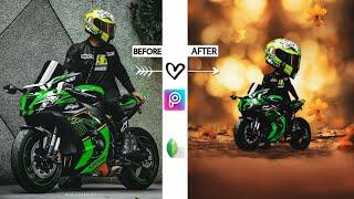 Moto Miniature   How To Make Moto Miniature in Mobile Using PicsArt   Bike Cartoon Editing Mobile screenshot 2