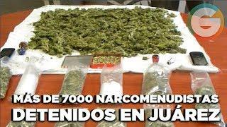 Más de 7000 narcomenudistas detenidos este año en Ciudad Juárez :SSPM
