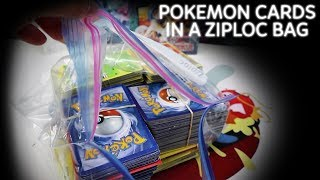 $20 Ziploc Bag of Pokemon Cards - Random Mystery Bundle from Ebay!