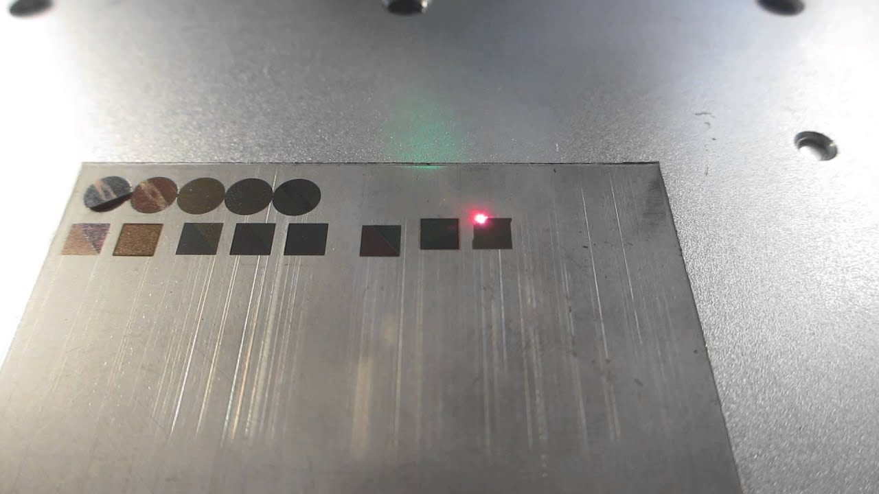 Color Marking On Stainless Steel By 10w Fiber Laser