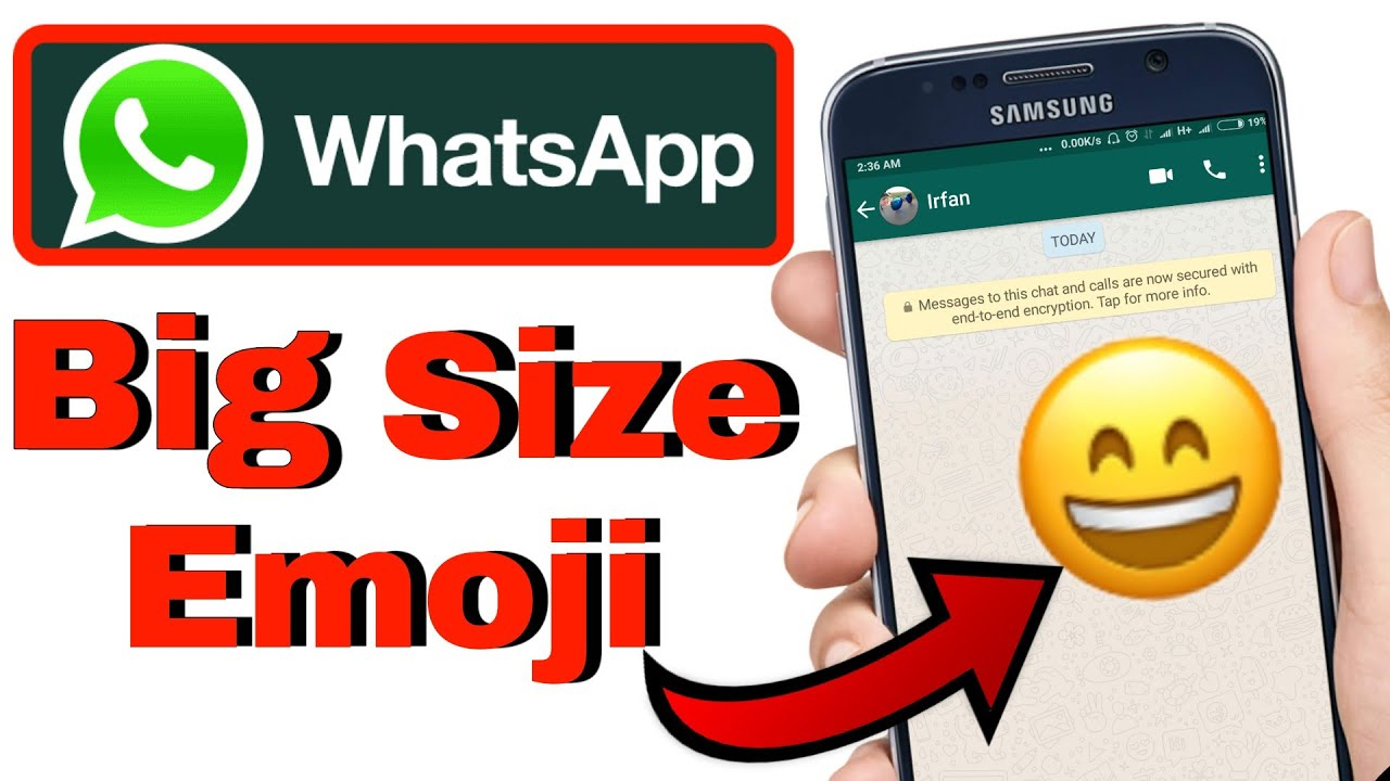 How to Send NEW Big Size Emojis on your WhatsApp | Whatsapp Big Emoji by  itech
