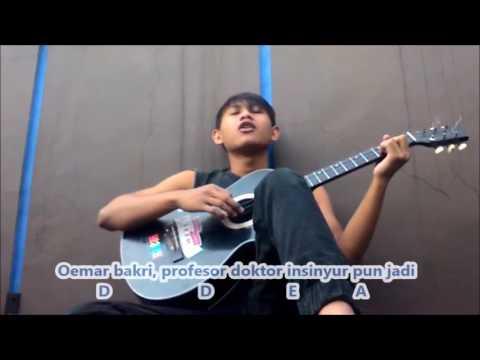 Iwan fals - guru oemar bakri chord and guitar cover #tebayoll