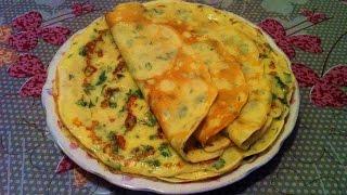 Творожные Блины с Зеленью/Cottage Cheese Pancakes/Очень Простой Рецепт(Быстро и Вкусно)