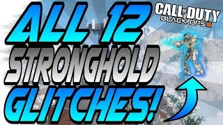(7/1/16) ALL 12 WORKING STRONGHOLD GLITCHES! - Out of Maps, Wallbreaches (Black Ops 3 Glitch)