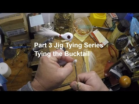 How To Make Your Own Bucktail Jigs Start To Finish Part 3 Of 3 - Tying