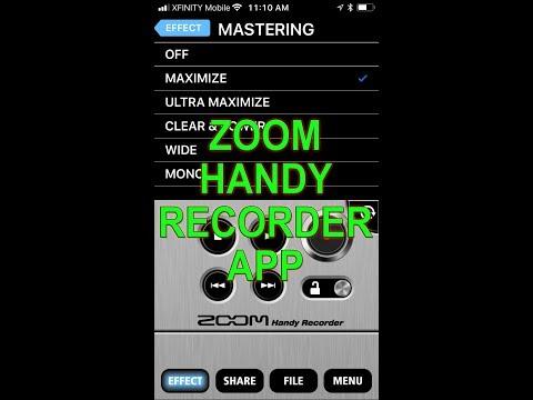 ZOOM HANDY RECORDER APP DEMO